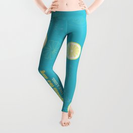 Squeeze The Day Like A Girl - Typography Design Leggings
