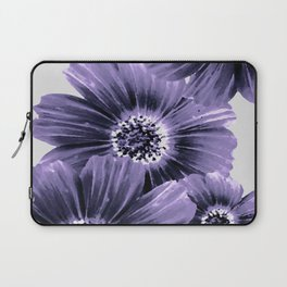 Daisies floral in soft lavender hues Laptop Sleeve