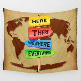 Directions Panels Wanderlust Wall Tapestry