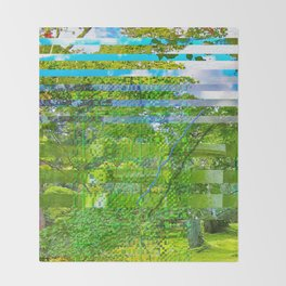 Landscape of My Heart (segment 1) Throw Blanket