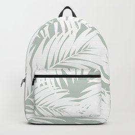 Palm Tree Fronds White on Rainwashed Maui Hawaii Tropical Graphic Design Backpack