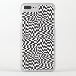 Check Twist Clear iPhone Case