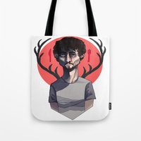 will graham Tote Bags featuring Will Graham by nucleir