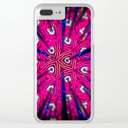 Abstract kaleidoscopic image. fractal pattern made with reflections. Clear iPhone Case