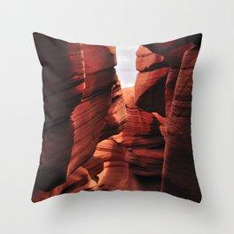 Curves. Low Antelope Canyon , Arizona, USA Throw Pillow