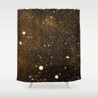 interstellar Shower Curtains featuring interstellar by D /graphic design & illustration/