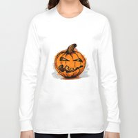 pumpkin Long Sleeve T-shirts featuring Pumpkin by rafo