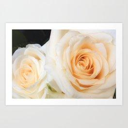 Parisian Rose Garden Cream Number 3 Art Print