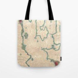 Vintage Map of Lake Champlain (1874) Tote Bag
