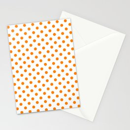 Small Polka Dots - Orange on White Stationery Cards