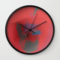 mask Wall Clocks featuring Mask by Fernando Vieira