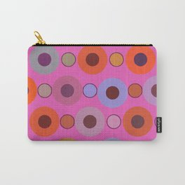 Abstract circle color print Carry-All Pouch