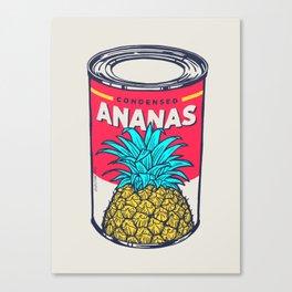 Condensed ananas Canvas Print