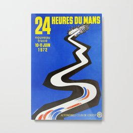 1972 Le Mans poster, car poster, race poster, t-shirt Metal Print