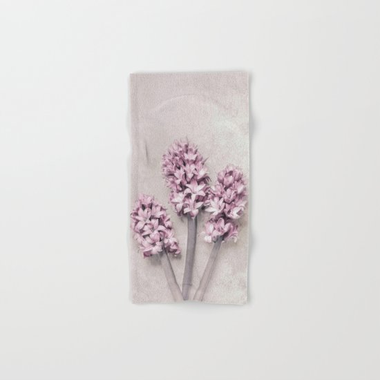 Beautiful Pink Hyacinths Hand & Bath Towel