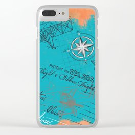 Retro flying Clear iPhone Case