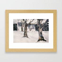 February snow Framed Art Print