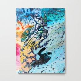 Abstract Melt VI Metal Print