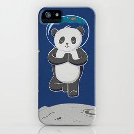 Astro yoga panda iPhone Case