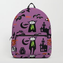 Cute Dracula and friends purple #halloween Backpack