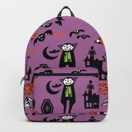 Cute Dracula and friends purple #halloween Backpack