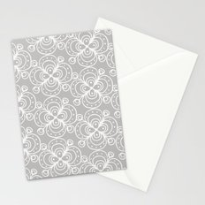 Silver grey lacey floral Stationery Cards