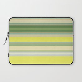Bright Yellow Green Stripes Laptop Sleeve
