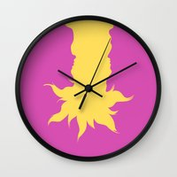 tangled Wall Clocks featuring Tangled by Citron Vert