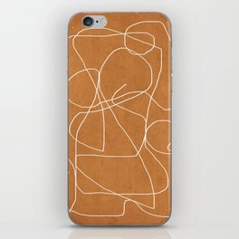 Abstract line art 17 iPhone Skin