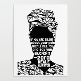 ZNH - If You Are Silent - Black Lives Matter - Series - Black Voices Poster