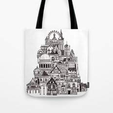 London pencil lines Tote Bag