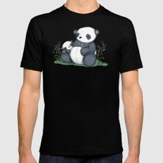 Plushie Pandas Mens Fitted Tee MEDIUM Black