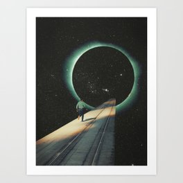 Escaping into the Void Art Print