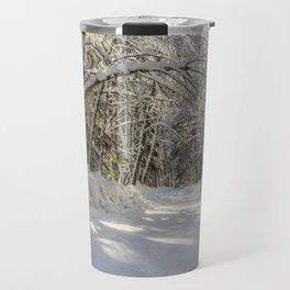 Covered in White Travel Mug