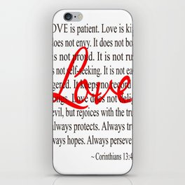 Love is Patient, Love is Kind. iPhone Skin