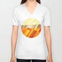 earth V-neck T-shirts featuring Earth by Anai Greog