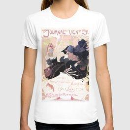 1899 Art nouveau auction journal ad T-shirt