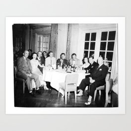 Group of Diners Art Print