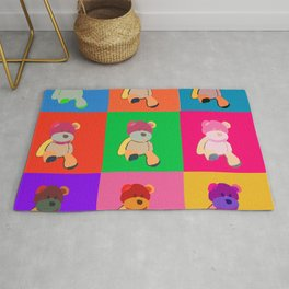 Pop Art Teddy Bear Rug