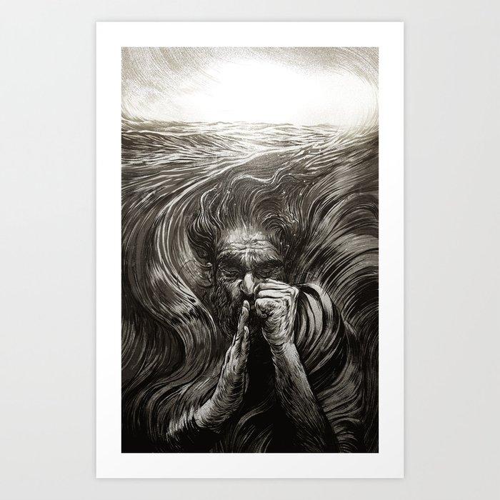JONAH - SANS TEXT Art Print