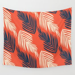 Orange Palms Wall Tapestry