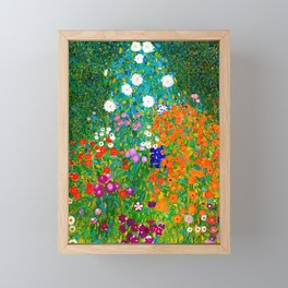 Gustav Klimt - Flower Garden Framed Mini Art Print