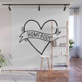 Homebody - introvert art Wall Mural