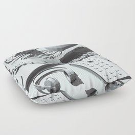Low Poly Studio Objects 3D Illustration Grey Floor Pillow