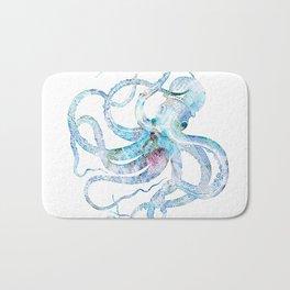 Vintage octopus colorized Bath Mat