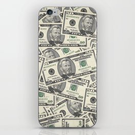 Collage of Currency Graphic iPhone Skin