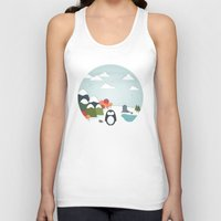biology Tank Tops featuring South Pole by General Design Studio