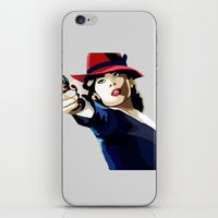 agent carter iPhone & iPod Skins featuring AGENT CARTER Reporting for Duty by Danielle Aragon