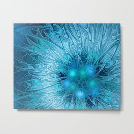 Ice crystal frozen Abstracts Metal Print