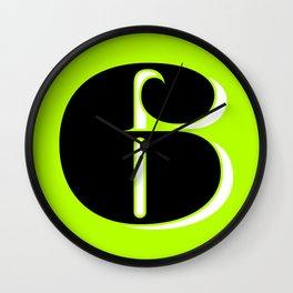 Super Fat 6 Wall Clock
